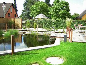 Schwimmteich mit Garten